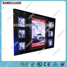 New Design Quality Custom Advertising Backlit Slim Light Box Multi Photo Frames