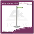 De contrôle de foule stanchion/ceinture rétractable barrière stand/queue mât post