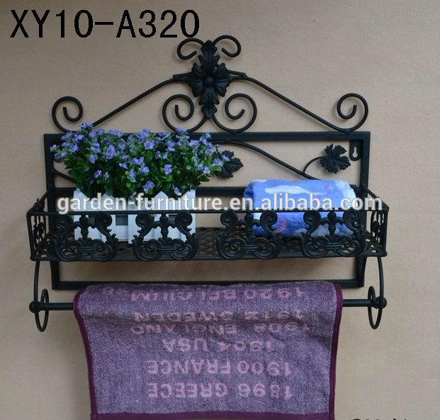 xy10 a320 schmiedeeisen bad handtuchhalter zuhause veranstalter dekorativen bl ttern arbeiten. Black Bedroom Furniture Sets. Home Design Ideas