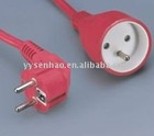 Europe standard VDE France power extension cord (VDE/ROHS certifications)