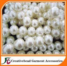 Round immitation plastic Pearls