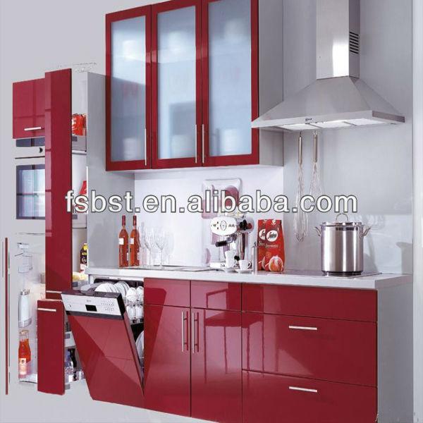 Ak30 moderno estilo fresco de color verde alemania pvc for Estilos de gabinetes de cocina modernos