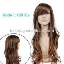 Long 100% human hair wig