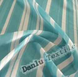 190T Blue and White Stripe Taffeta Waterproof Fabric