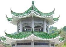 Grass green ridge roof tiles Small