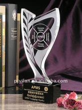 unique black crystal awards trophy