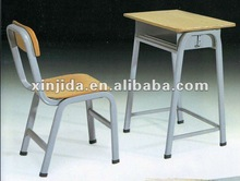 Metal School student desk and chair