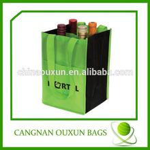 Wholesale non woven wine bag,6 bottle wine bag,6 bottle wine bag with dividers