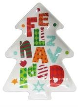 Beautiful tree shaped melamine christmas plastic plates