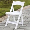 blanco de la boda de resina silla plegable
