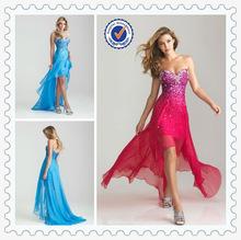 Deep V neck Shiny Beaded Crystal Cocktail Dress