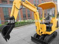 0.05m3 1.5 ton hydraulic mini rubber crawler excavator WY15 farm machinery, with 300/900mm bucket ,hammer