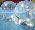 Claro inflable caminar bola del agua, bola de hámster humanos