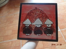 Vietnam hand painted wall hanging painting