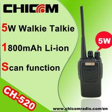 Chicom Handheld Wireless Long Distance 2 Way Radio UHF Walkie Talkie CH-520