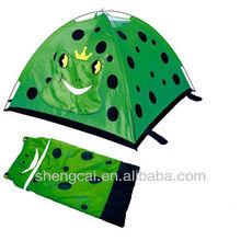 kids animal tent with sleeping bag set