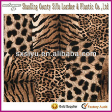 2015 fashional new design leather fabric for brown leopard