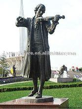 bronze figure musician sculpture/statue