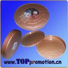 Round shaped movie tin box ,CD box,DVD case