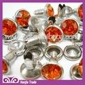 plata de diamantes de imitación de cristal de strass remache para collar de perro