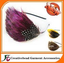 Hair accessories fashion natural feather headband carnival feathers headbands with feather accessories