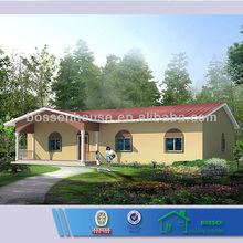 low cost light steel prefabricated villa/ houses