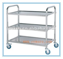 3- tier Stainless Steel Hotel Food Trolley Cart