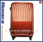 Aluminum frame hard shell spinner luggage