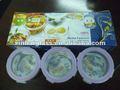 borosil resistente ao calor baratos 400ml rodada pirex de vidro de armazenamento de alimentos conjunto
