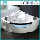 Factory direct acrylic ABS material nice shape big jets aqua hydro whirlpool massage bathtub