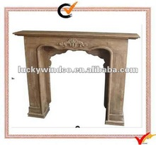 Free standing French style Vintage wood fireplace mantel