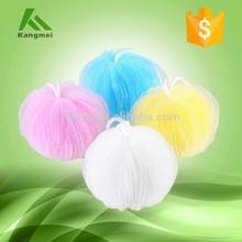 Colorful pumpkin mesh bath sponge