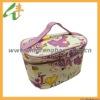 lady's fashionable waterproof pu beauty case cosmetic