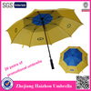 Yellow auto open promotion advertising air vent windproof umbrella