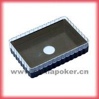 Plastic playing card box