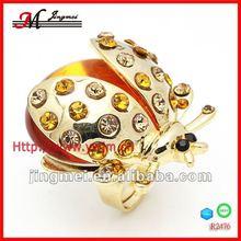 R2476 cheap golden animal fashion ring 18k real gold