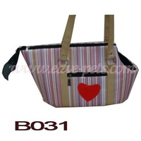 B031 Cloth Material Purple Color 36*20*24 CM Pet Bag Dog Carrier with Wheel Factory