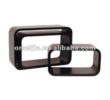High Gross Black cube wall shelf