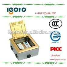 copper waterproof Floor socket 2pin 3 pin electric socket outlet TV socket outlet