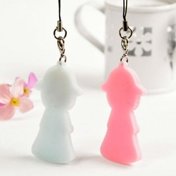 Soft great Cartoon Keychain by Rubber