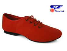 Red Jazz Shoes Light Weigth canvas soft dance shoes