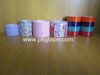 Printing Acrylic adhesive Rice paper painting masking tape for furniture, decoration masking tape