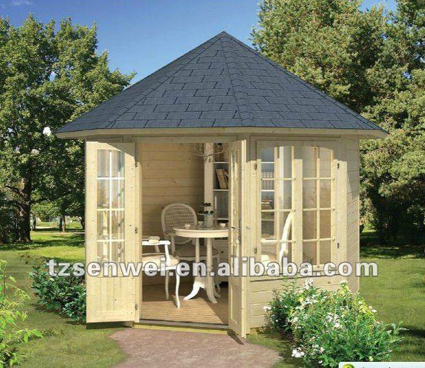 gazebo jardim madeira:De madeira do jardim gazebo, 8 bordas de madeira pavilion, De madeira