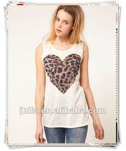 Wholesale fashion design Tigger heart short sleeves branded t shirt for women