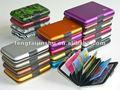 De aluminio caja de tarjeta/titular/cartera