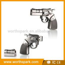 metal handgun shape USB pen drive 16gb