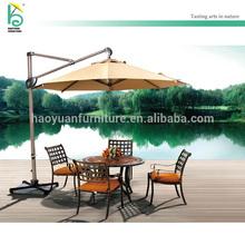 outdoor octangle tent stone base umbrella garden overhanging parasol