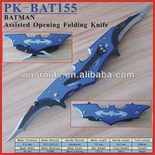 "(PK-BAT155) 6"" Long Blue Batman Folding Pocket Knife"