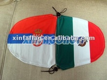 Printed car wing mirror cover flag