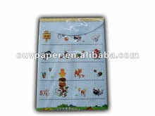 profesional stationery factory PVC button file folder
